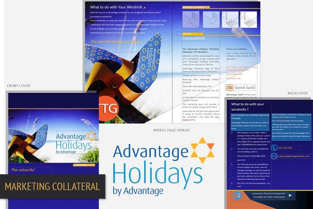 Brand Elect Advantage Travel Marketing Collateral