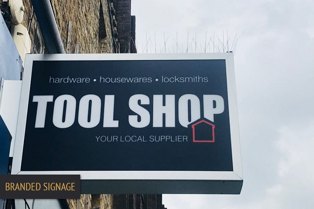 Brand Elect Tool Shop Branded Signage HERO